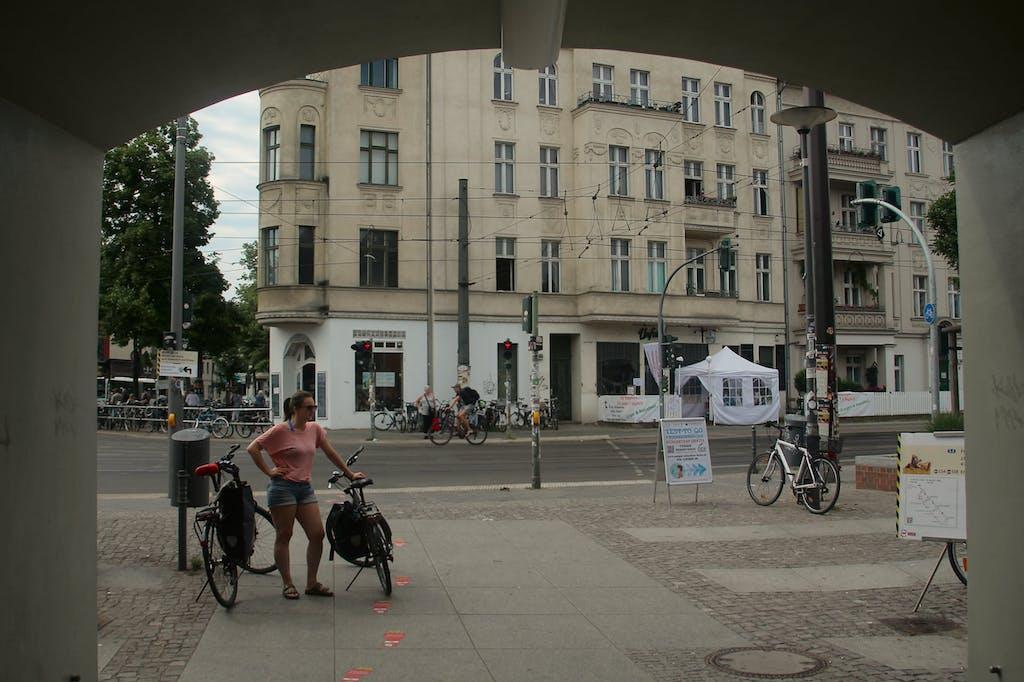Start der Radtour am S-Bahnhof Friedrichshagen