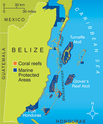 belize barrier reef map What Is The Belize Barrier Reef Reefci belize barrier reef map