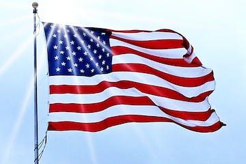a close up of a flag
