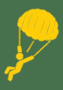 Parachute person icon