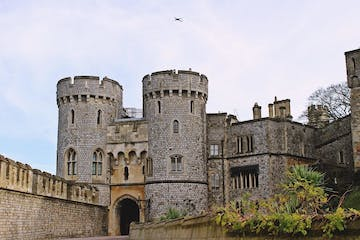 a castle on top of a stone building