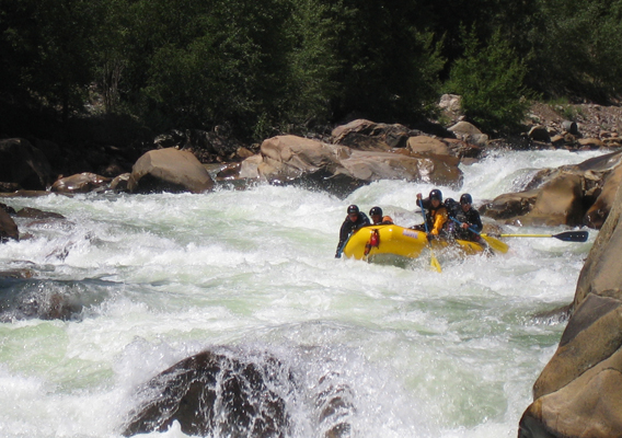 Rafting No Name Rapid, Upper Animas