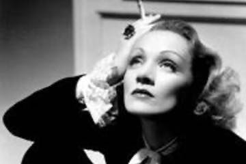 Marlene Dietrich posing for the camera