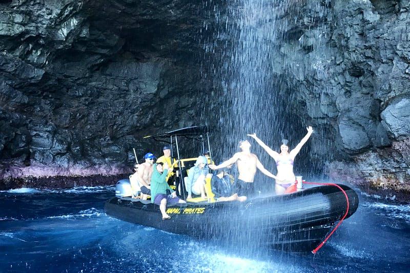 Pirates Sea Cave & Waterfall, Na Pali Coast