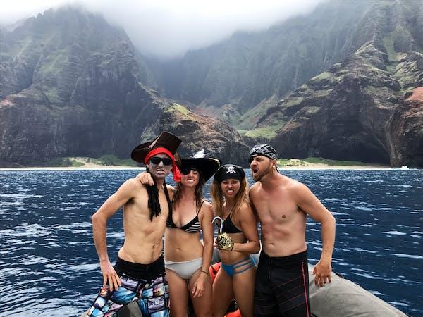 Kauai Na Pali Pirates Adventure Raft Tour