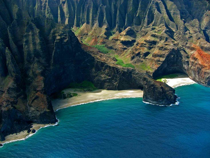 Honopu Arch Is One Of The Most Amazing Sights You Will See Along Napali Coast Consists Two Beaches That Are Connected By Which
