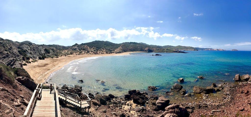 Playa virgen en Menorca