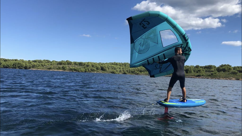 wingfoiling in Fornells Menorca