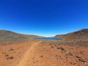 a desert on a dirt road