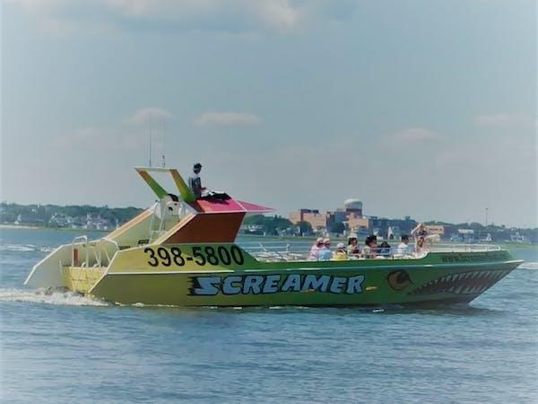 screamer speedboat on the water