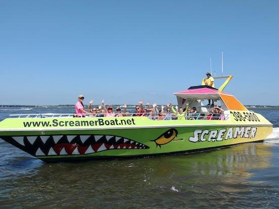 Ocean City Boat Ride Screamin Jet Boat Rides Dolphin Tours