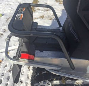 Snowmobile Gear Rack