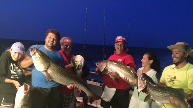 Full moon striped bass fishing trip viking fleet for Viking fishing report montauk