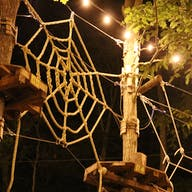 Our ropes course at night
