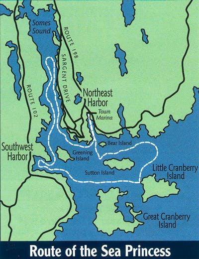 sea princess route