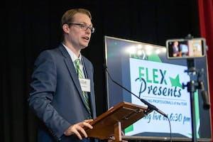 Saxon Daugherty presents at FLEX Presents
