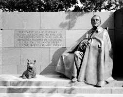 Ghosts-of-Scary-DC-Blog-4a-Fala-and-FDR-Statue-in-Washington-DC