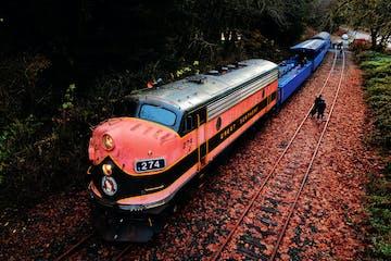 diesel change going down train tracks