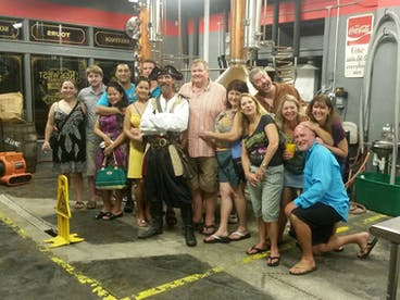 Key West brewery tour group
