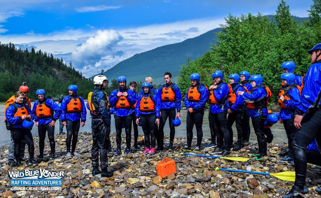 Swiftwater rescue course group.
