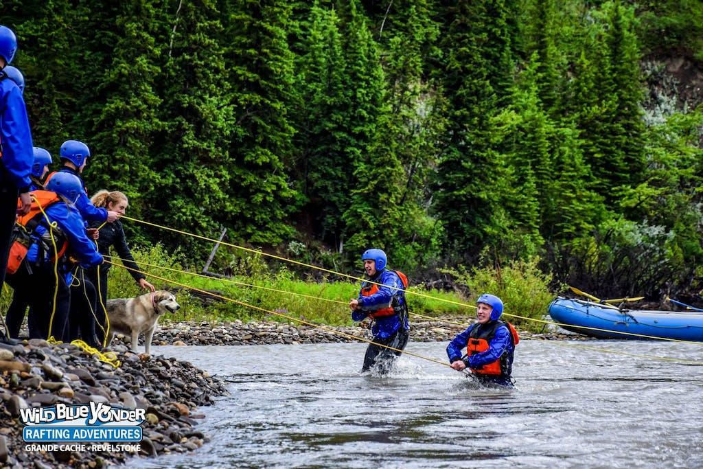 River rescue practice.