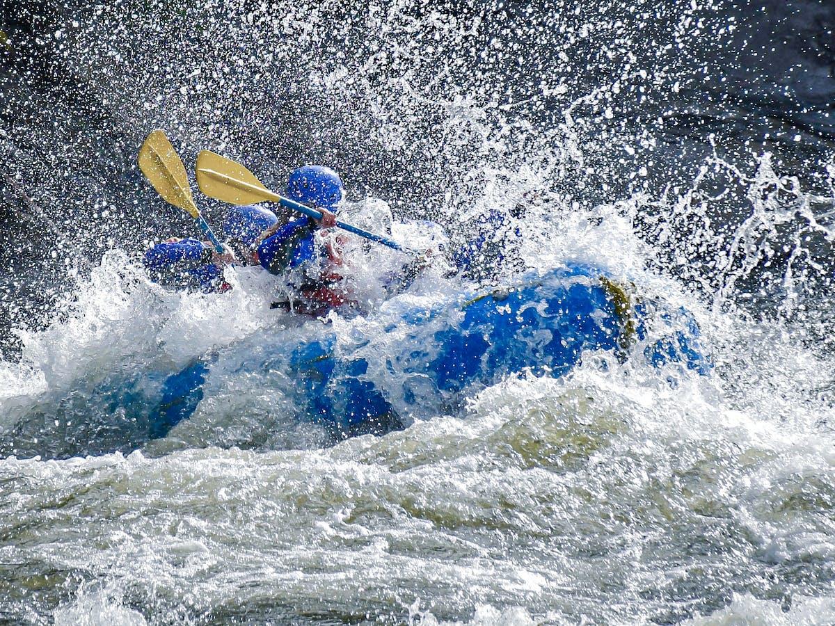 Extreme whitewater rafting rapids alberta
