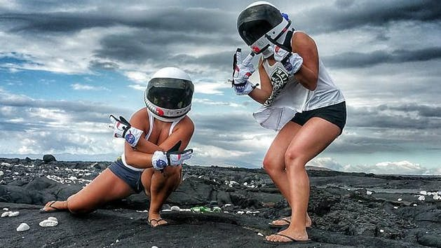 Two women on the Mauna Kea Tour