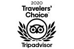 TripAdvisor 2020 Travelers' Choice Award badge