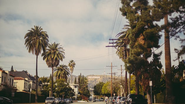 hollywood sign from the street
