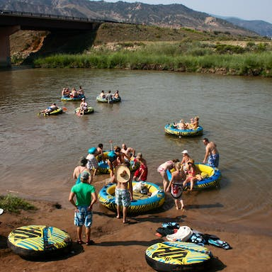 Group float trips in the Vail Valley