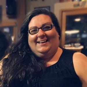 Rochelle Richards wearing glasses