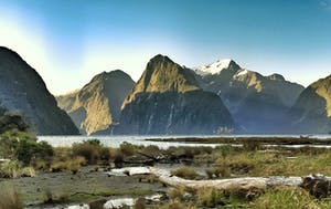 landscape with a glacier