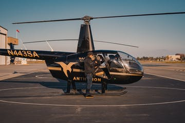 helicopter on tarmac