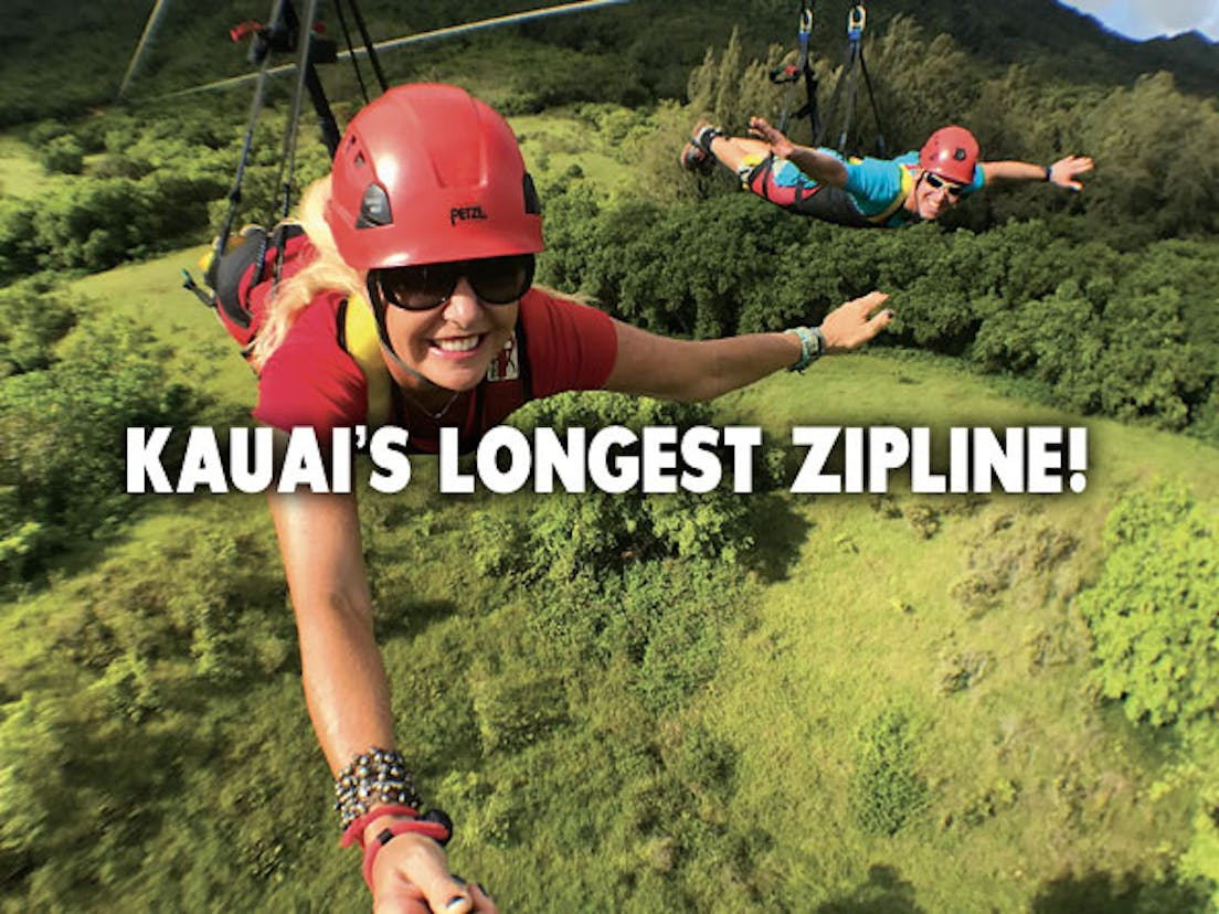 Kauai's Longest and Fastest Zipline!