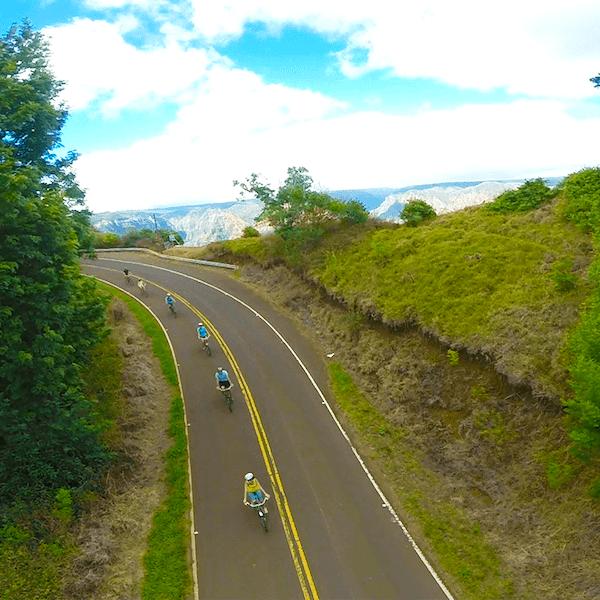 downhill bike group tour
