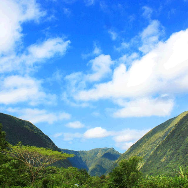 A stunning shot of the Waipi'o Valley