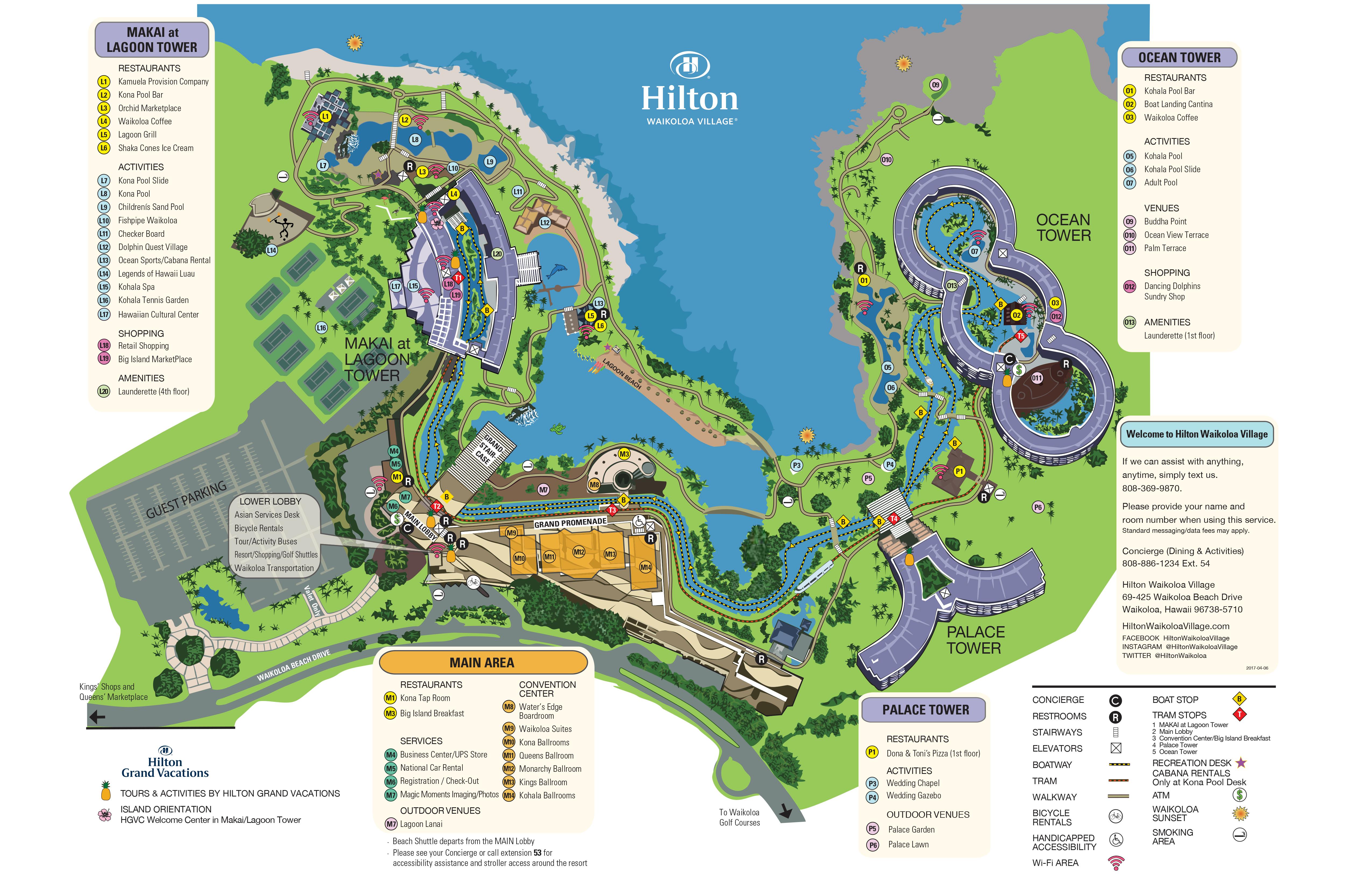 Hilton Waikoloa Vilalge Resort Map