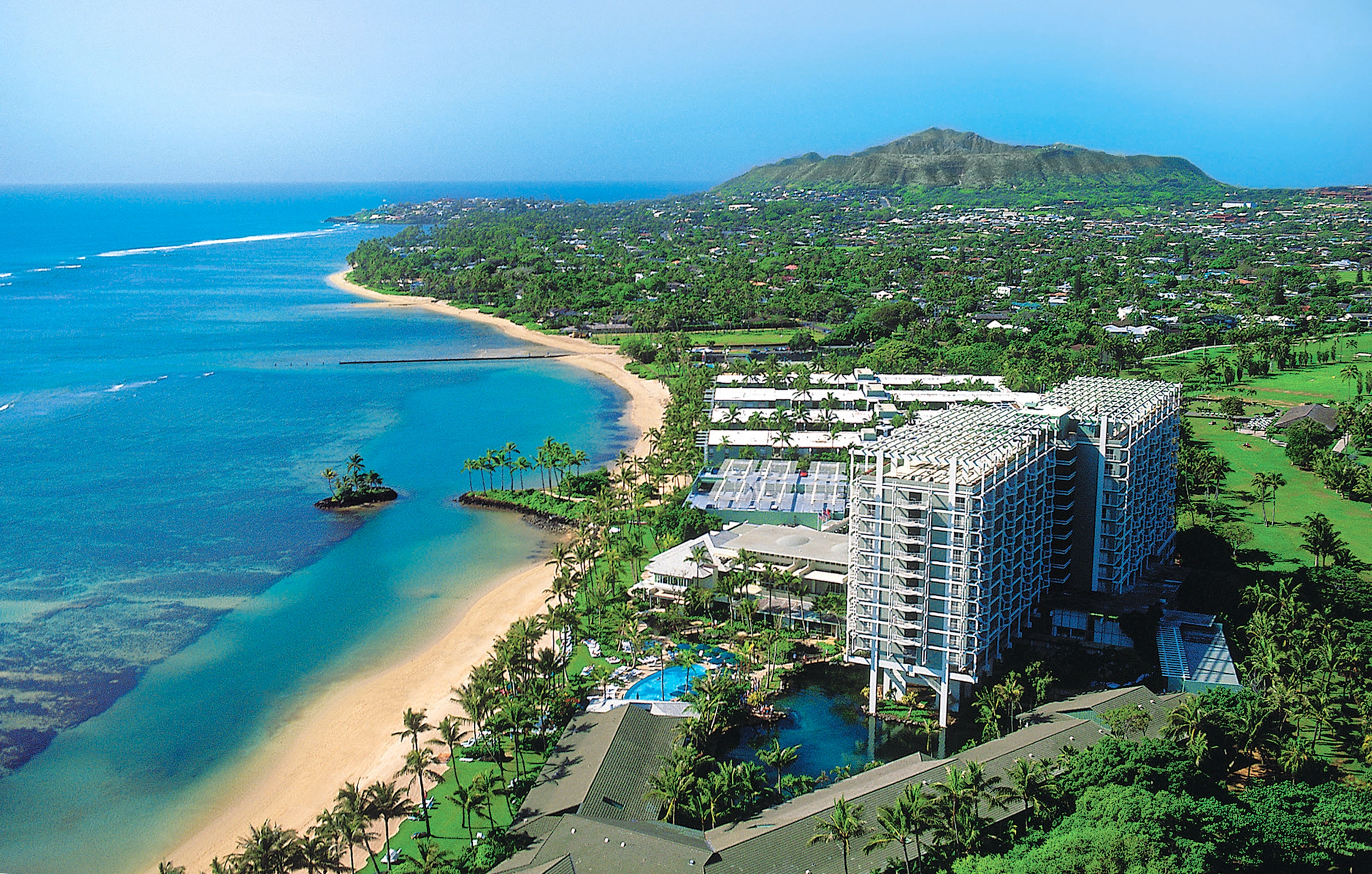 Kahala Hotel & Resort Aerial shot