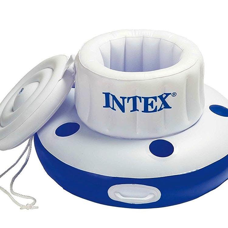 A floating cooler for holding beverages