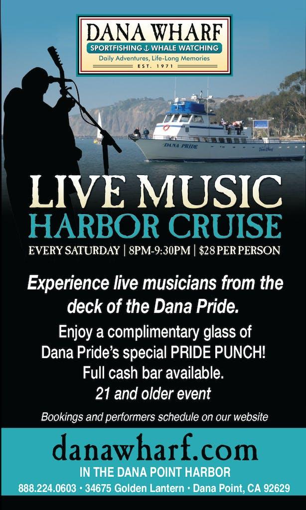 Dana Wharf live music harbor cruise