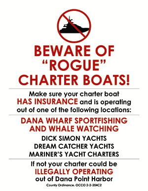 Beware of rogue boats flyer