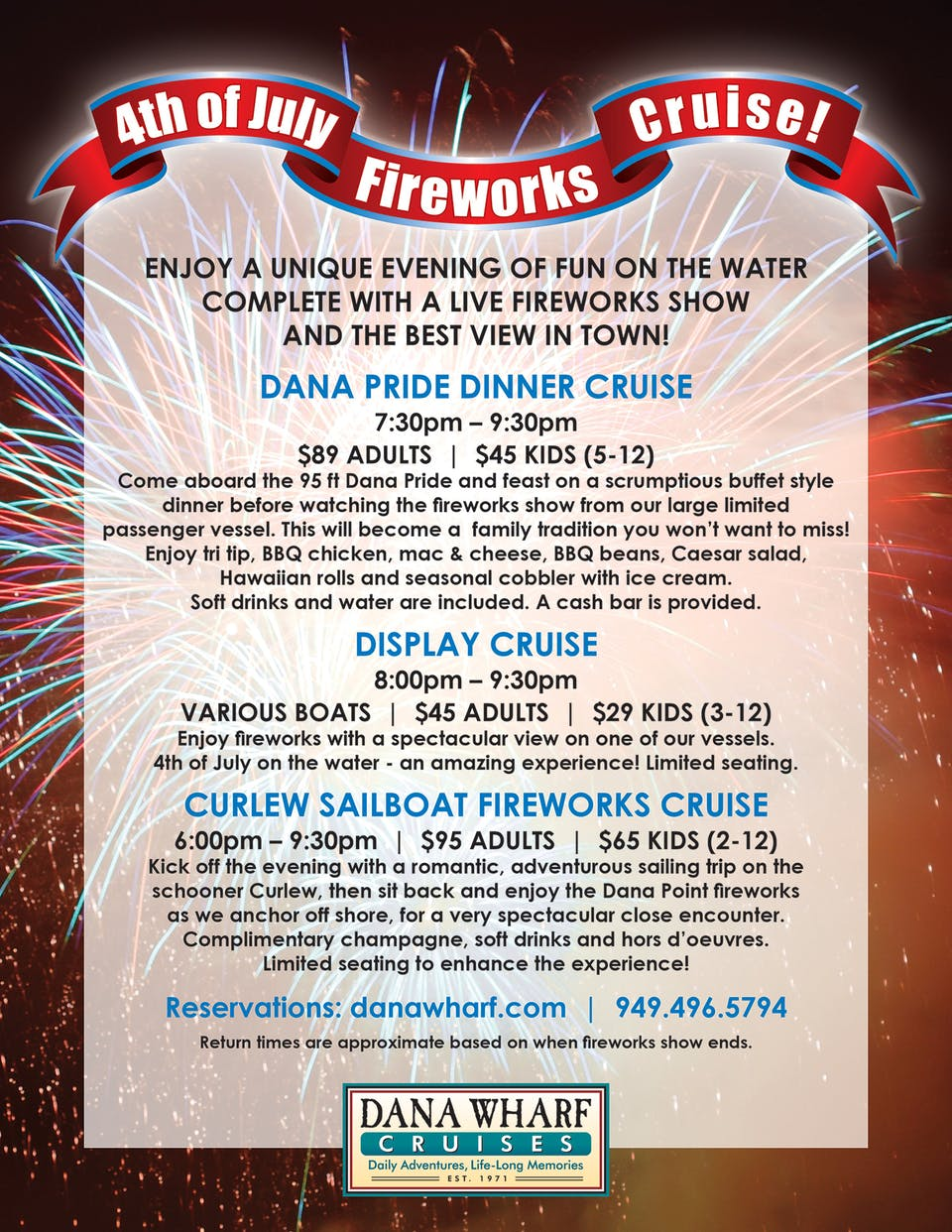4th of July Cruise flyer
