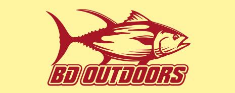 halibut sponsor BD Outdoors logo
