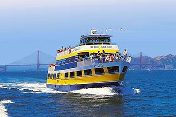 sausalito ferry in the bay