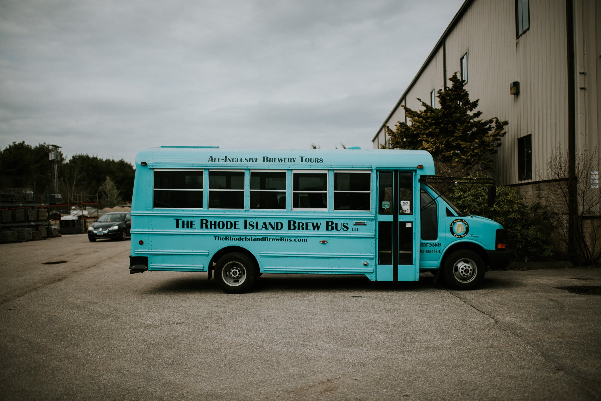 The Rhode Island Brew Bus parked