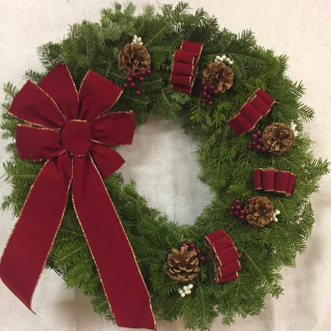 A 30 inch classic christmas wreath