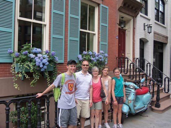 A family enjoying a day with Manhattan Food Tours