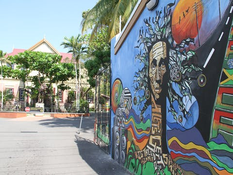 A look at the Bob Marley Museum's main driveway