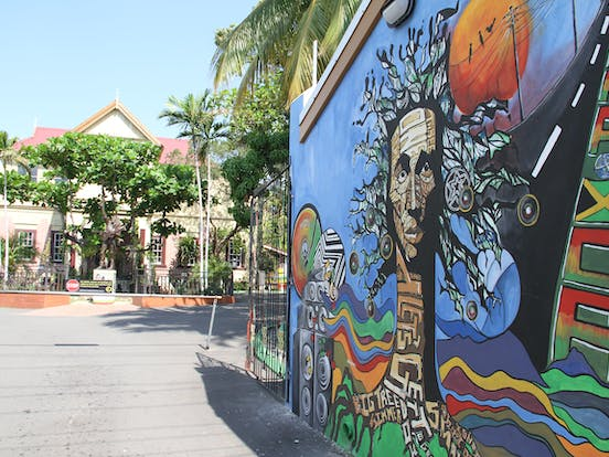 A look at the Bob Marley Museum's main driveway