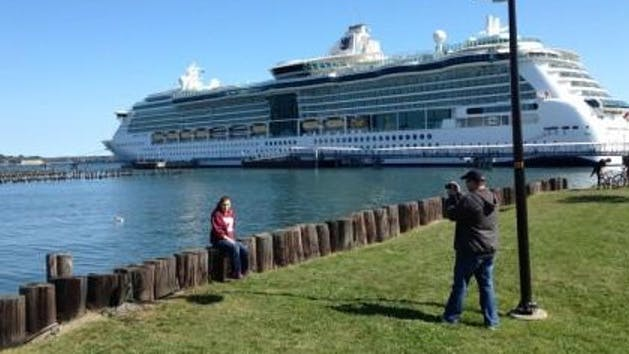 Cruise ship stopping in Portland, Maine